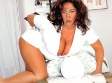 Nurse Bigger in size than standard Tits