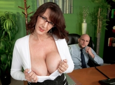 Fucking the biggest titted SEXY HOUSEWIFE who's wearing glasses